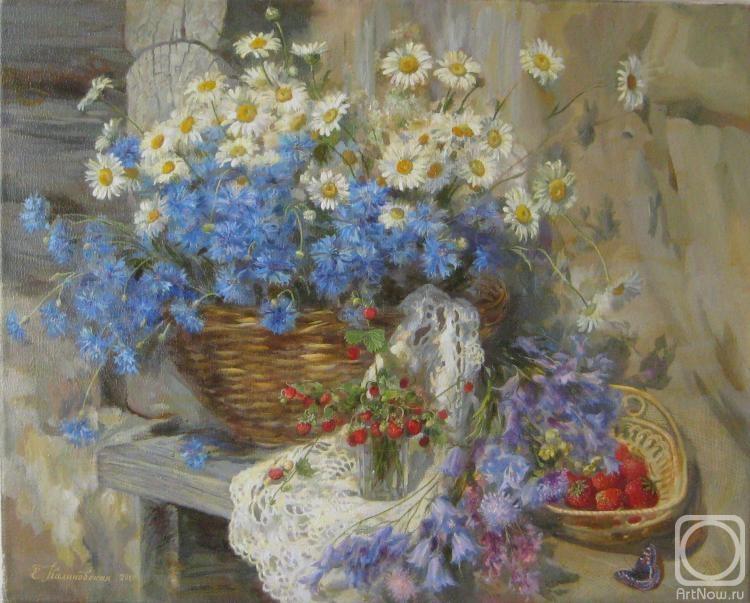 Художника лето полевые цветы