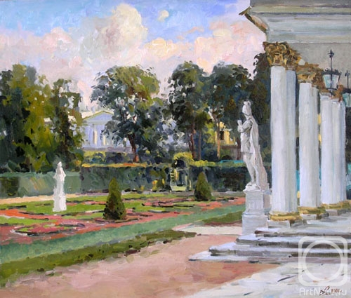 Malykh Evgeny. The view on the Catherine's park from the Catherine's palace