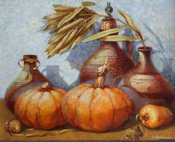 Kovalenko Lina. Still life with pumpkins