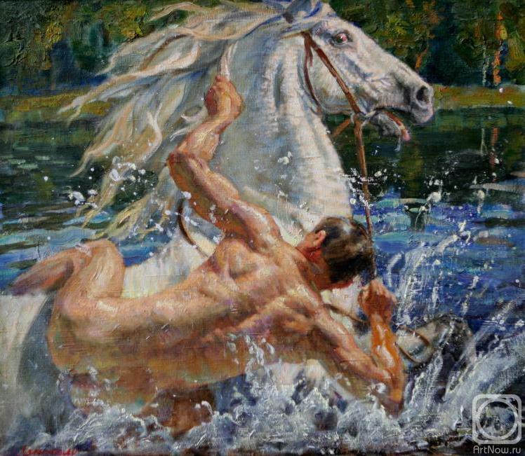купание картина:
