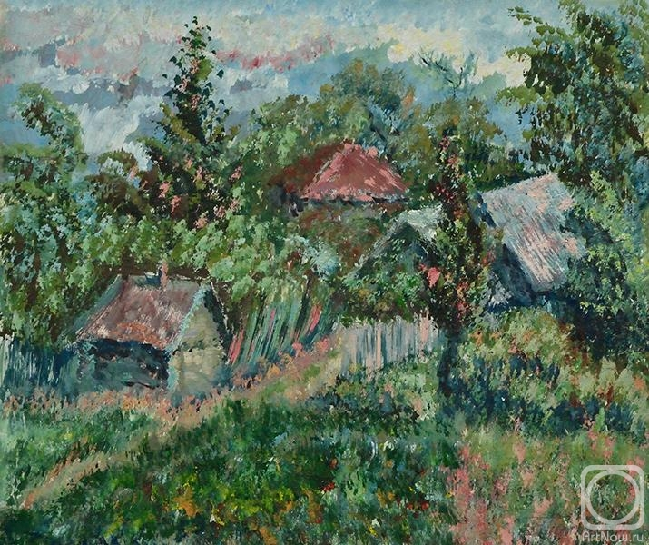 Summer. Village Simonov.. The artworks. Panteleeva Elena . Artists. Paintings, art gallery, russian art