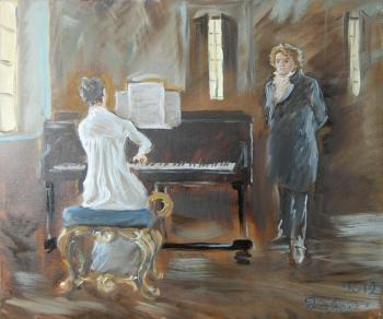 Dobrovolskaya Gayane. Moonlight Sonata (Beethoven and Student), twain