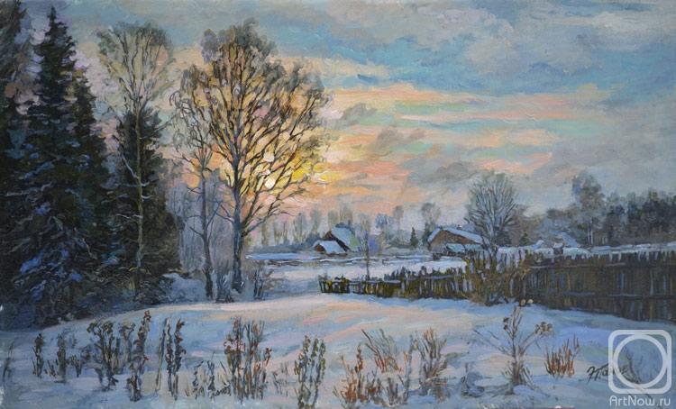 Панов Эдуард. Зима в деревне