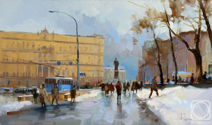 Shalaev Alexey. Square, Moscow (Lubyanka). The Age of the past