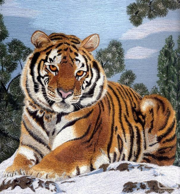Макуха Надежда. Тигр зимой