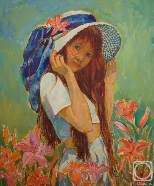 Вырвич Валентин. Девочка в шляпе