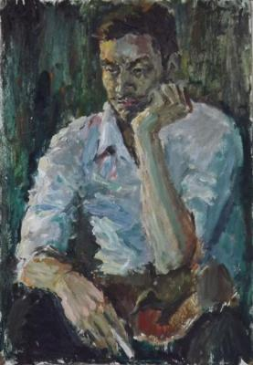A young man with a cigarette. Study. Korolev Leonid