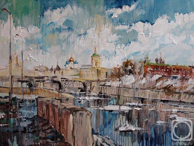Чарина Анна. Ледоход на Москва-реке