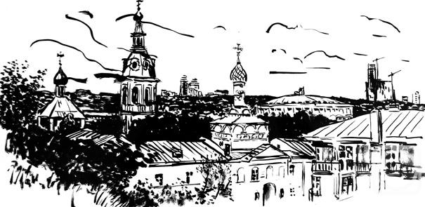 Малюсова Татьяна. Вид на Андреевский монастырь