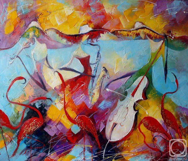 Моисеева Лиана. Танец с фламинго