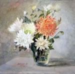 Светлый букет (хризантемы)