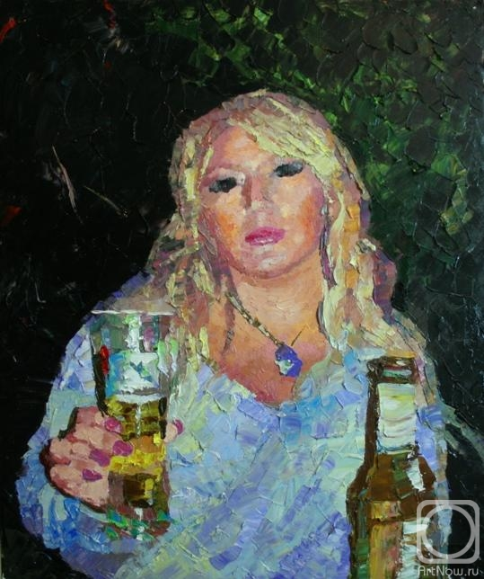 Rudnik Mihkail. Portrait with a beer glass