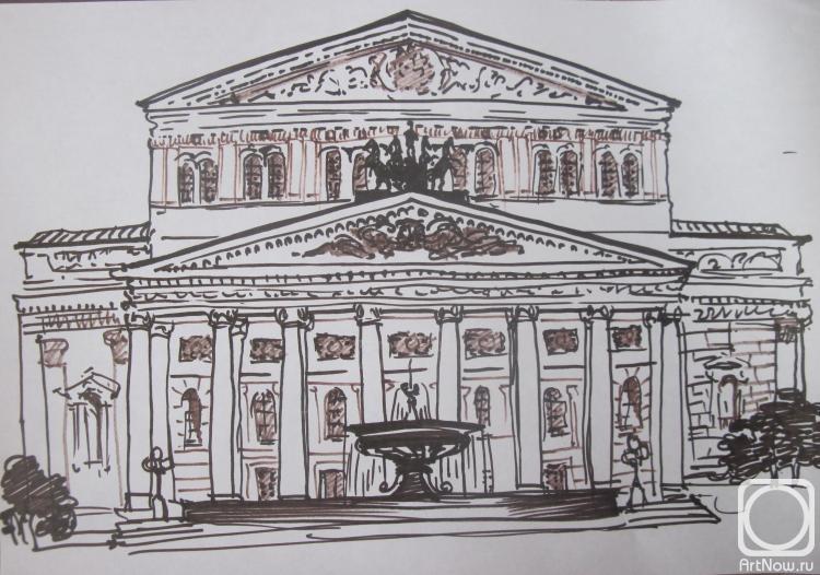 Картинка большого театра для выжигания