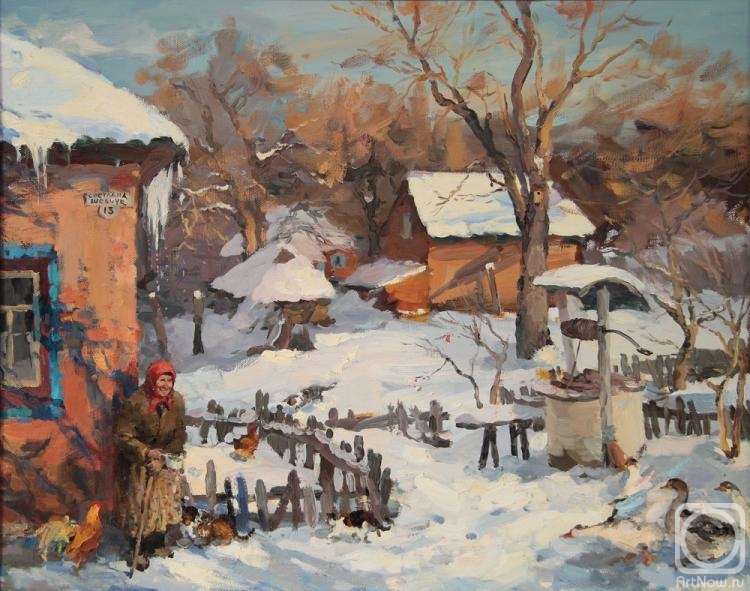 Shevchuk Svetlana. Grandmother Pelageya and her courtyard