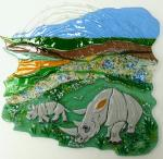 "Decorative panel ""Africa"" ​​fusing, glass"
