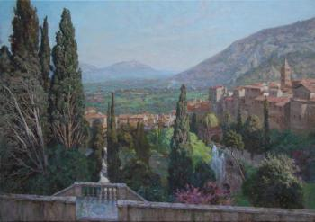 Korobkin Anatoly. View of Tivoli from the terrace of Villa d'Este