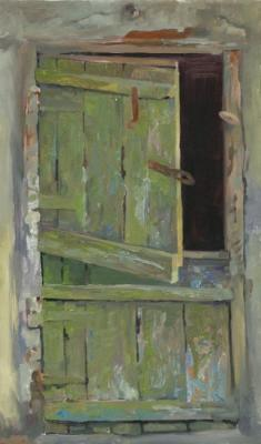 Chernov Denis. Green Door of Barn