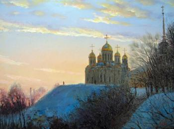 А cathedral in the evening
