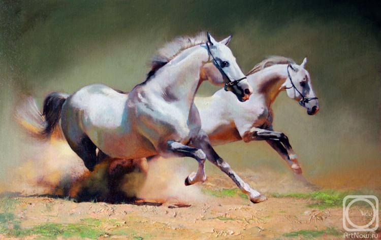 кони живопись: