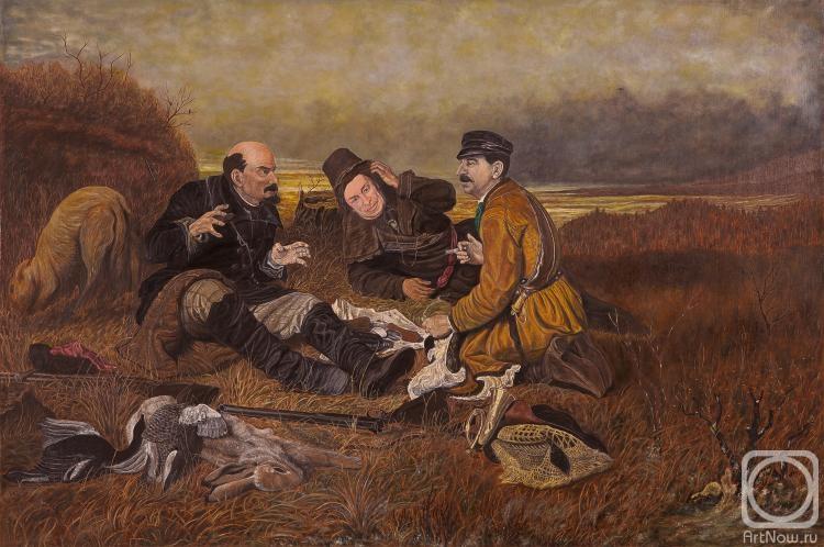 охотники на привале картина бузовой смотрелся