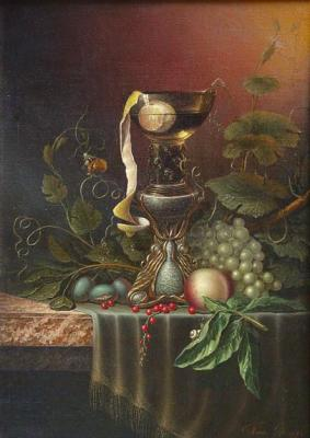 Panin Sergey. Still-life with a lemon and red currant