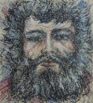"""Картина """"Человек с черной бородой"""". Курсков Святослав"""