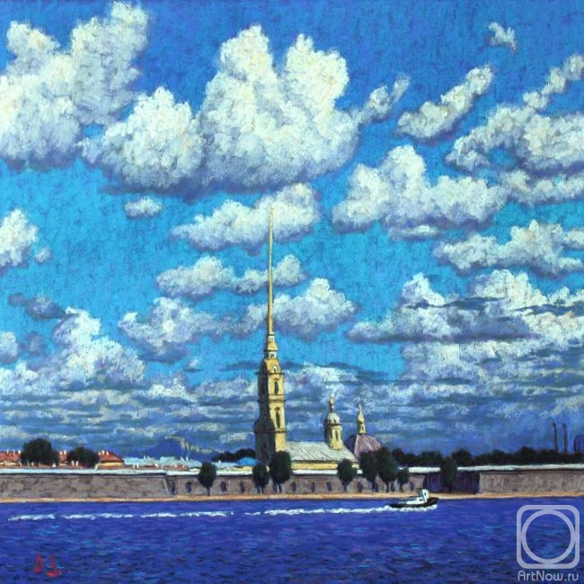 Petersburg. Peter and Paul Fortress. The artworks. Zuev Aleksey . Artists. Paintings, art gallery, russian art