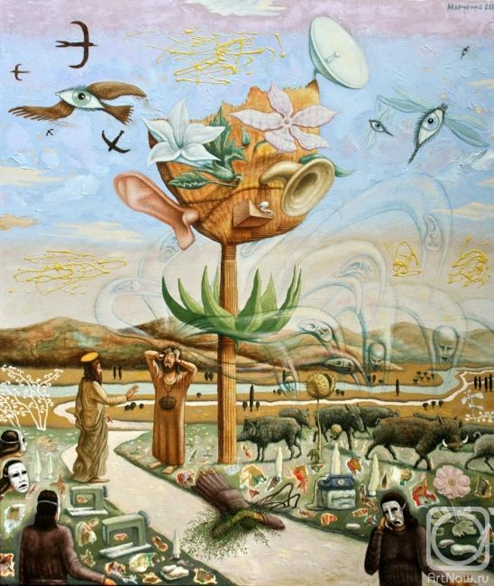Картина маслом на холсте. Марченко Владимир. Изгнание бесов