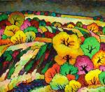 Veselovsky Valery. Autumn dark-yellow