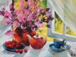 "Картина ""Цветы на окне"". Кремер Марк"