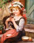 Девочка с котенком. Смородинов Руслан