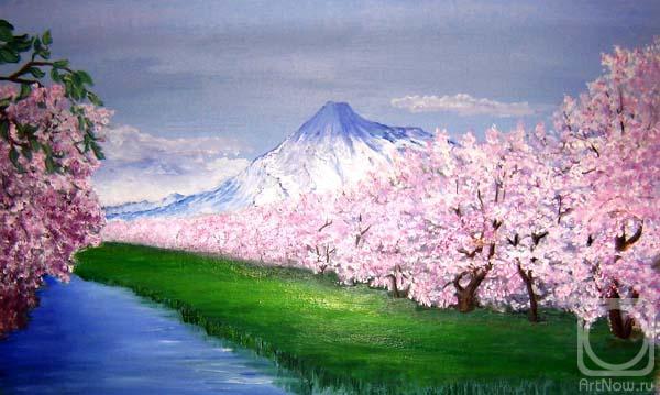 Картины художника цветение сакуры