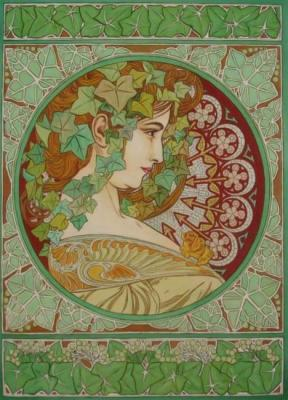 Ivy. Copy of A. Mucha
