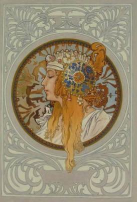 Byzantine blonde. Copy of A. Mucha