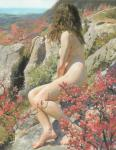 Nude in Romantic Spring Landscape