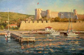 Bozcaada. Sunset over the fortress. Galimov Azat