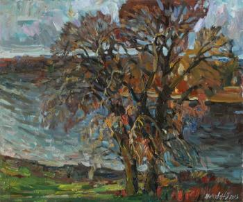 Zhukova Juliya. Autumnal tree by the river