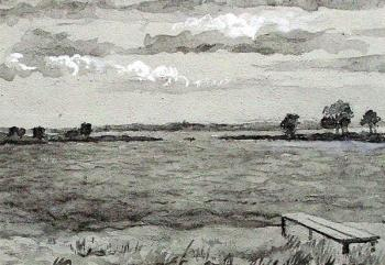 Lake Nero. Horizon (sketch). Bask Tatiana
