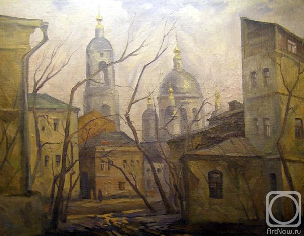 Gerasimov Vladimir. Moscow. Church of St. Sergius of Radonezh in Rogozhskaya settlement that Gonnoy