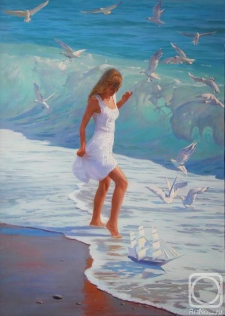 Купить Картина маслом морской пейзаж