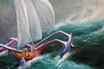 Борьба за выживание: одесский шторм затопил яхту Одесса ,погода ... | 234x350