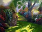 Копия картины Томаса Кинкейда Дорога в Рай (Pathway to Paradise)