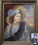 Калиновская Екатерина. Парижанка . Портрет по фото