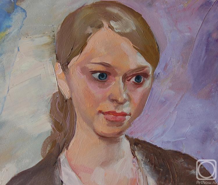 Добровольская Гаянэ. Фрагмент портрета Нади