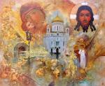 "Картина ""Православные святыни."". Кузина Светлана"