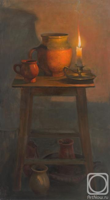 Натюрморт со свечой Картины художника Харченко Виктория  Харченко Виктория Натюрморт со свечой