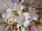 """Белые лилии. Из серии """"Пленэр"""""""