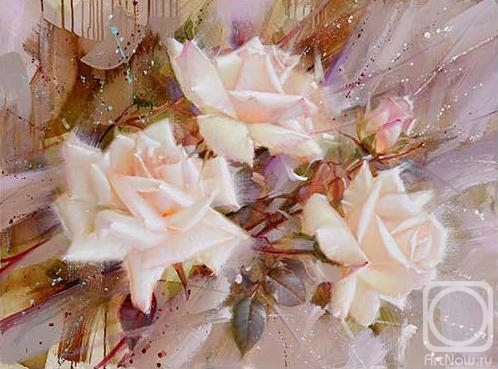 Gappasov Ramil.  Trandafiri albi