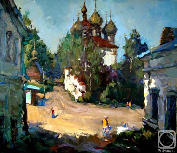 Мишагин Андрей. Тенистая улица в Плёсе