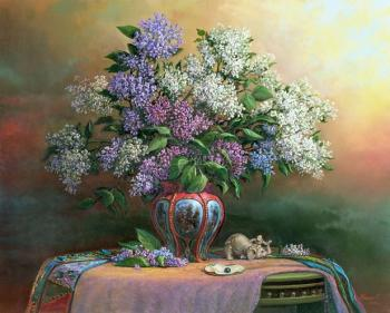 Lilac and black pearl. Panin Sergey